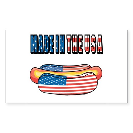 Made in the USA Rectangle Sticker