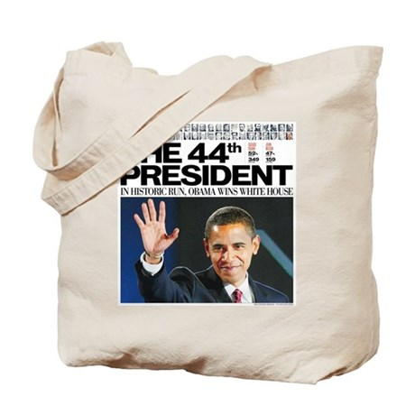 44th President/2012 Obama Headlines Tote Bag