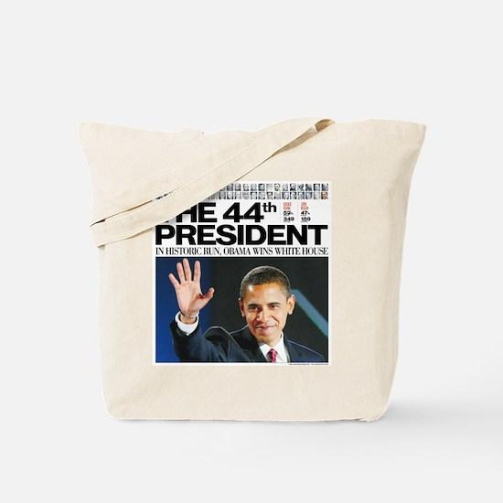 44th President/2012 Obama Headlines Tote Bag