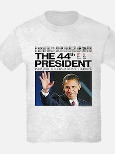 44th President/2012 Obama Headlines T-Shirt