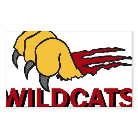 Wildcats Sticker (Rectangle)