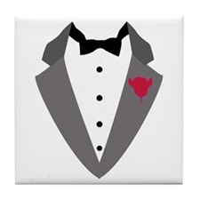 Black Tie Tile Coaster