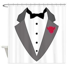 Black Tie Shower Curtain