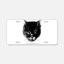 Kitty Face Aluminum License Plate