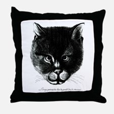 Kitty Face Throw Pillow