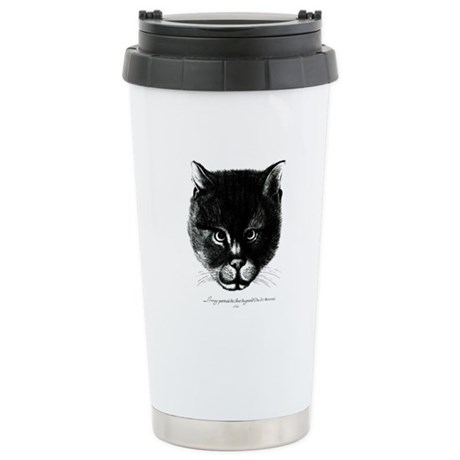 Kitty Face Stainless Steel Travel Mug