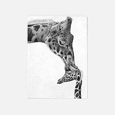 Giraffe and Calf 5'x7'Area Rug