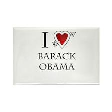 i love Barack Obama heart Rectangle Magnet