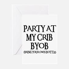 PARTY AT MY CRIB Greeting Cards (Pk of 10)