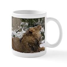 Lion in Snow Mug