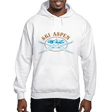 Aspen Crossed-Skis Badge Hoodie Sweatshirt