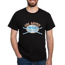 Aspen Crossed-Skis Badge T-Shirt