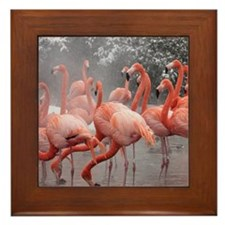 Flamingo Group Framed Tile