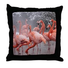 Flamingo Group Throw Pillow