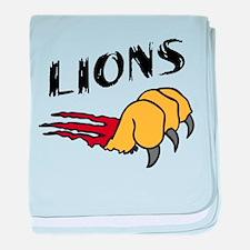 Lions baby blanket