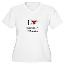 i love Barack Obama heart T-Shirt