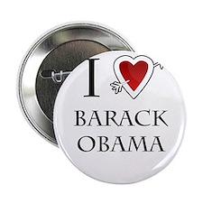 """i love Barack Obama heart 2.25"""" Button"""
