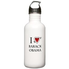 i love Barack Obama heart Sports Water Bottle
