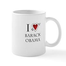 i love Barack Obama heart Mug
