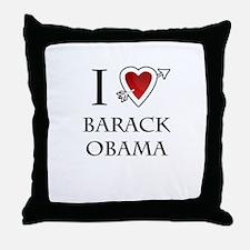 i love Barack Obama heart Throw Pillow