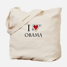 i love Barack Obama heart Tote Bag