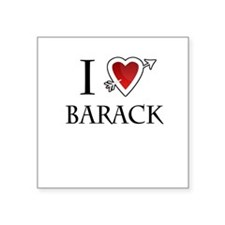 "i love Barack Obama heart Square Sticker 3"" x 3"""