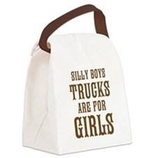 Trucks are for Girls Canvas Lunch Bag