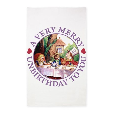 A Very Merry Unbirthday To You 3'x5' Area Rug