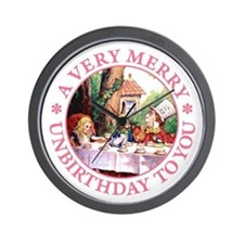 A Very Merry Unbirthday To You Wall Clock