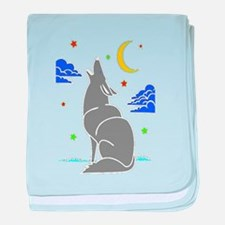 Grey Wolf baby blanket