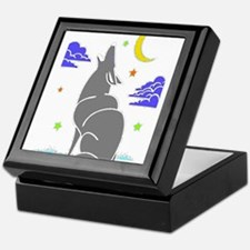 Grey Wolf Keepsake Box