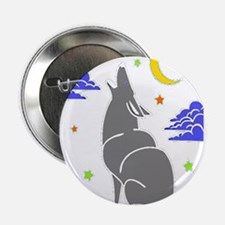 """Grey Wolf 2.25"""" Button"""