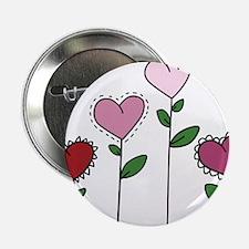 """Valentine Flowers 2.25"""" Button"""