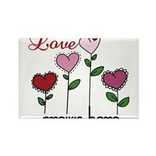Love Grows Here Rectangle Magnet
