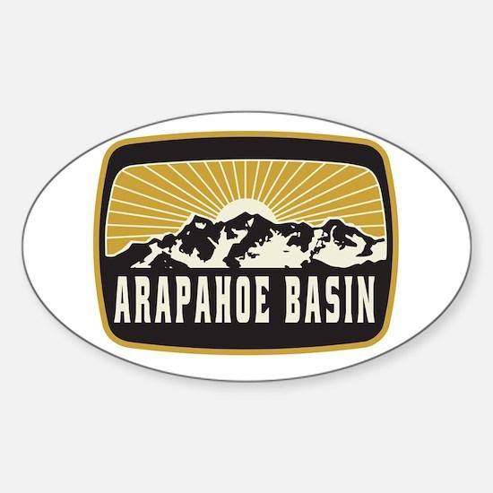 Arapahoe Basin Sunshine Patch Sticker (Oval)