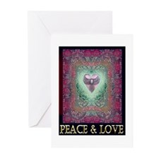 PEACE LOVE MANDALA Greeting Cards (Pk of 20)