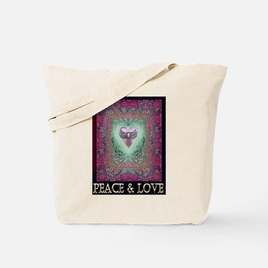 PEACE LOVE MANDALA Tote Bag