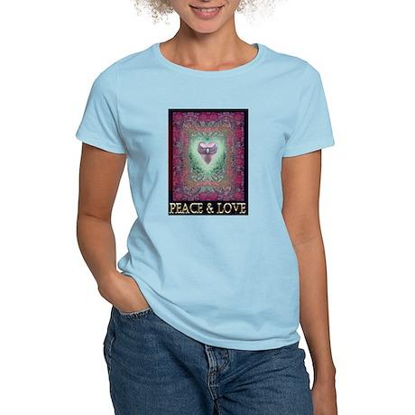 PEACE LOVE MANDALA Women's Light T-Shirt