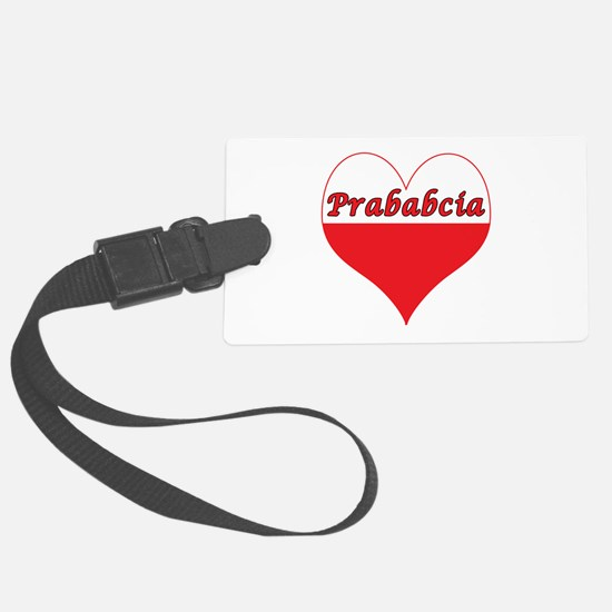 Prababcia Polish Heart Luggage Tag