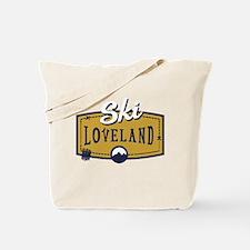 Ski Loveland Patch Tote Bag
