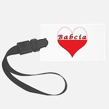 Babcia Polish Heart Luggage Tag