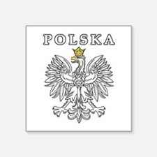 "Polska Black Eagle Square Sticker 3"" x 3"""