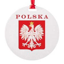 Polska Eagle Red Shield Ornament