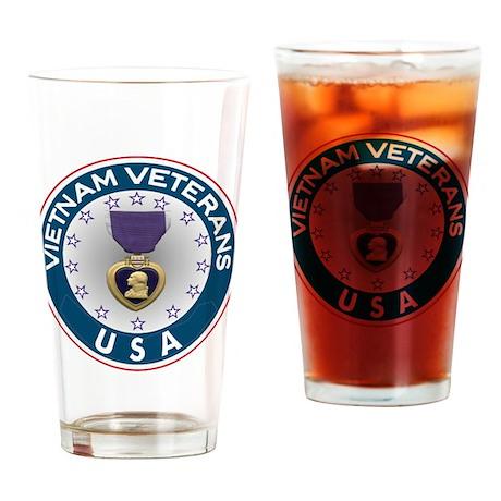 VVA Purple Heart Drinking Glass