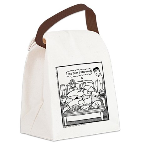 Yes? Can I Help You? Canvas Lunch Bag