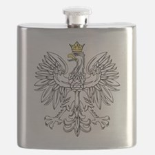 Polish Eagle With Gold Crown Flask