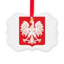 Polish Eagle Red Shield Ornament