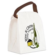 Wine Cheese Friends Canvas Lunch Bag