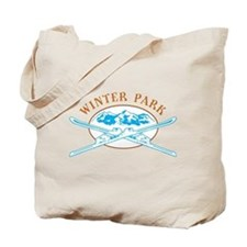 Winter Park Crossed-Skis Badge Tote Bag