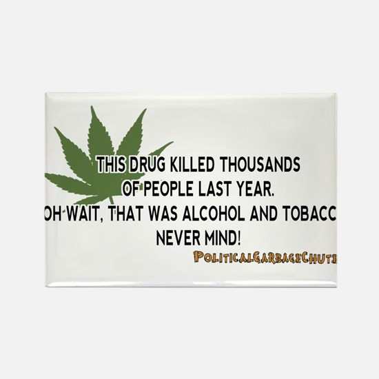 Pot Kills, Oh Never Never Mind Rectangle Magnet